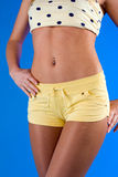 Beautiful belly slim girl Stock Photos