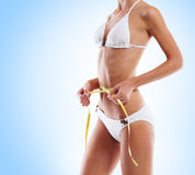 Beautiful belly of a young Caucasian woman Stock Images