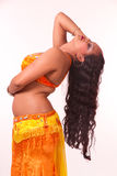 Beautiful bellydancer a backbend Royalty Free Stock Image