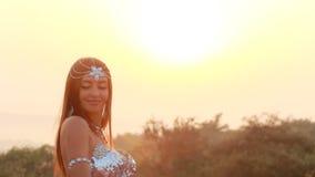 Beautiful bellydancer Stock Photography