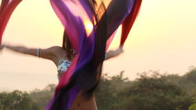 Beautiful bellydancer. Royalty Free Stock Image