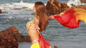 Beautiful bellydancer. Royalty Free Stock Images