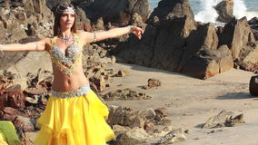 Beautiful bellydancer. Royalty Free Stock Photo