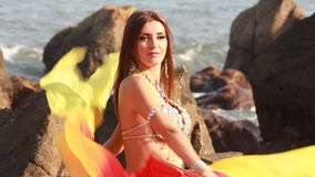 Beautiful bellydancer. Royalty Free Stock Photography