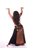 Beautiful bellydancer's back Royalty Free Stock Photography