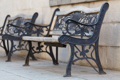 Beautiful bench with cast iron Royalty Free Stock Photos