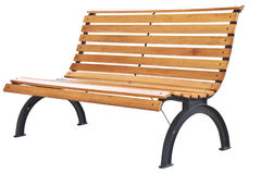 Beautiful bench separately on a white background Royalty Free Stock Photos