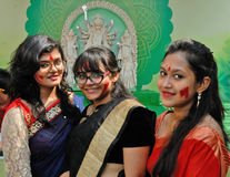 Beautiful Bengali Women. Liberal and broadminded attitude- orthodoxies don't get along with Bengali women these days. They are just way away from all such Stock Photography