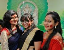Beautiful Bengali Women Stock Photography