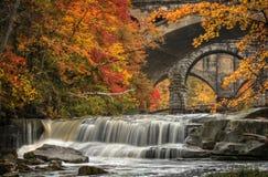Beautiful Berea Falls In Autumn Stock Photo