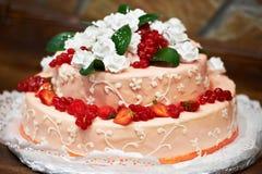 Beautiful berry cream pie Stock Images