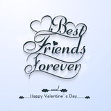 Beautiful best friends forever for happy valentine's day stylish Royalty Free Stock Image