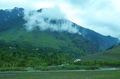 Beautiful Betab Valley landscape in Kashmir-1. A beautiful scene in the season of a monsoon in a Kashmir Stock Photos