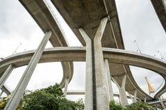 The Bhumibol bridge. This beautiful Bhumibol bridge is located in the capital of Thailand royalty free stock image