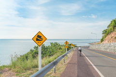Beautiful of bicycle lane along the sea Stock Photography