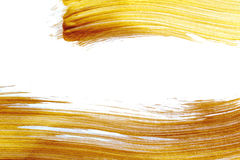 Beautiful big Abstract gold background with acrylic paint brush with place for your text royalty free stock photography