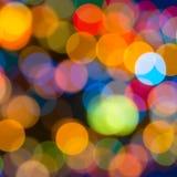 Beautiful big abstract xmas circular lights bokeh background, cl Stock Image