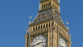 The beautiful Big Ben in London under the nice weather stock video footage