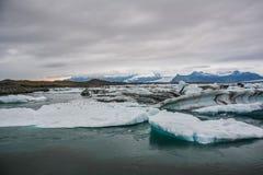 Beautiful big blue iceberg floating in Jokulsarlon glacial, Icel stock image