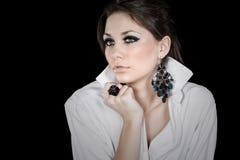 Beautiful Big Blued Eyed Teenager Royalty Free Stock Images
