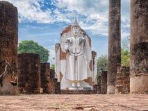 Beautiful big buddha statue stand at Chan Palace, Phitsanulok Royalty Free Stock Photo