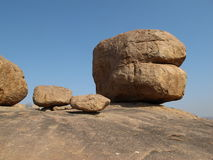 Beautiful big granite boulder Royalty Free Stock Photography