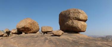 Beautiful big granite boulder in Hampi, India Royalty Free Stock Image