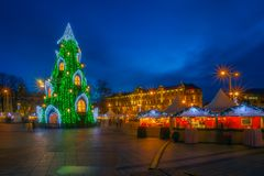 Christmas tree at Vilnius stock images
