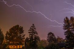 Beautiful big lightning Royalty Free Stock Images
