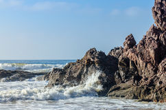 Beautiful big rock on a beach Royalty Free Stock Images