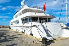 Beautiful big ship in the sea Stock Photos
