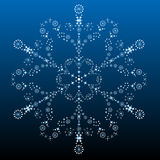 Beautiful Big Snowflake Stock Photo