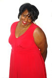 Beautiful Big Woman. A picture of a gorgeous big woman in red dress Stock Images