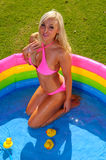 Beautiful  bikini girl Royalty Free Stock Images