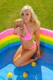 Beautiful  bikini girl Stock Photo
