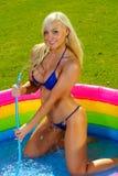 Beautiful  bikini girl Royalty Free Stock Photo