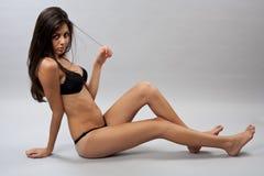 Beautiful bikini girl in lingerie Stock Photos