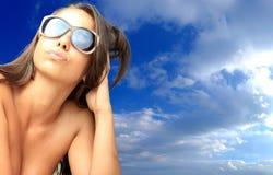 Beautiful bikini model posing Royalty Free Stock Photos
