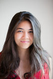 Beautiful biracial teen girl smiling at camera Royalty Free Stock Image