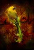 Beautiful bird. Nature theme illustration stock illustration