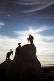 A beautiful bird statues on the Morecambe coast. United Kingdom royalty free stock image