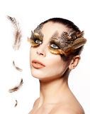 Beautiful Bird Woman Stock Image