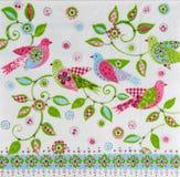 Beautiful birds pattern on napkin Stock Photos