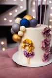 Beautiful birthday cake at a party - 30th Anniversary stock photography