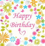 Beautiful Birthday card Royalty Free Stock Image