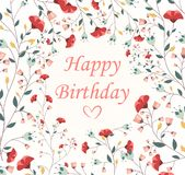 Beautiful Birthday card. Illustration of Beautiful Birthday card  on white Royalty Free Stock Photo