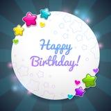 Beautiful Birthday card template Stock Photos