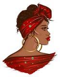 Beautiful Black Afro Woman illustration stock photography