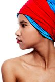 Beautiful black American woman with red lips Royalty Free Stock Photos
