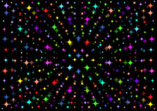 A beautiful black background with colorful stars. Beautiful black background with colorful stars Stock Images